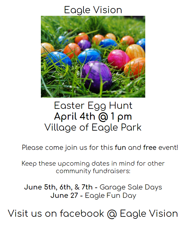 Eagle easter egg hunt