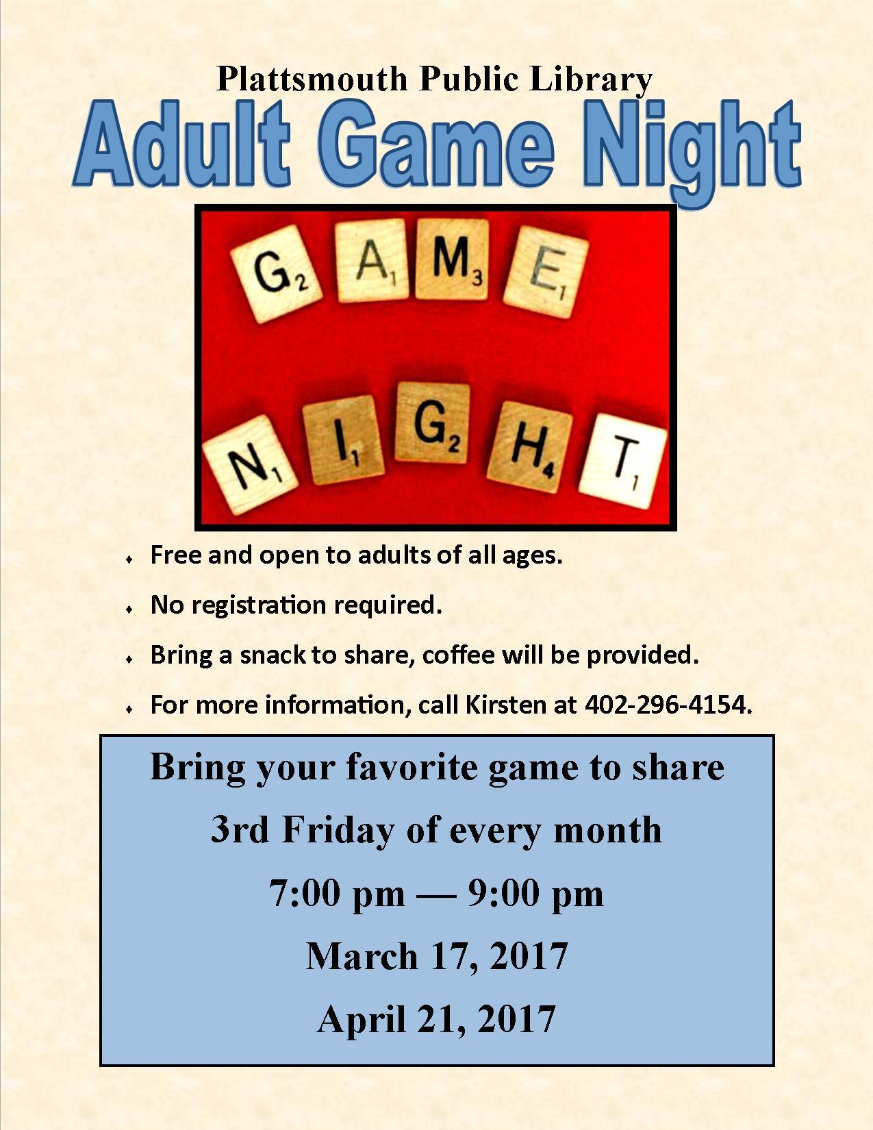 Adult Game Night 201701