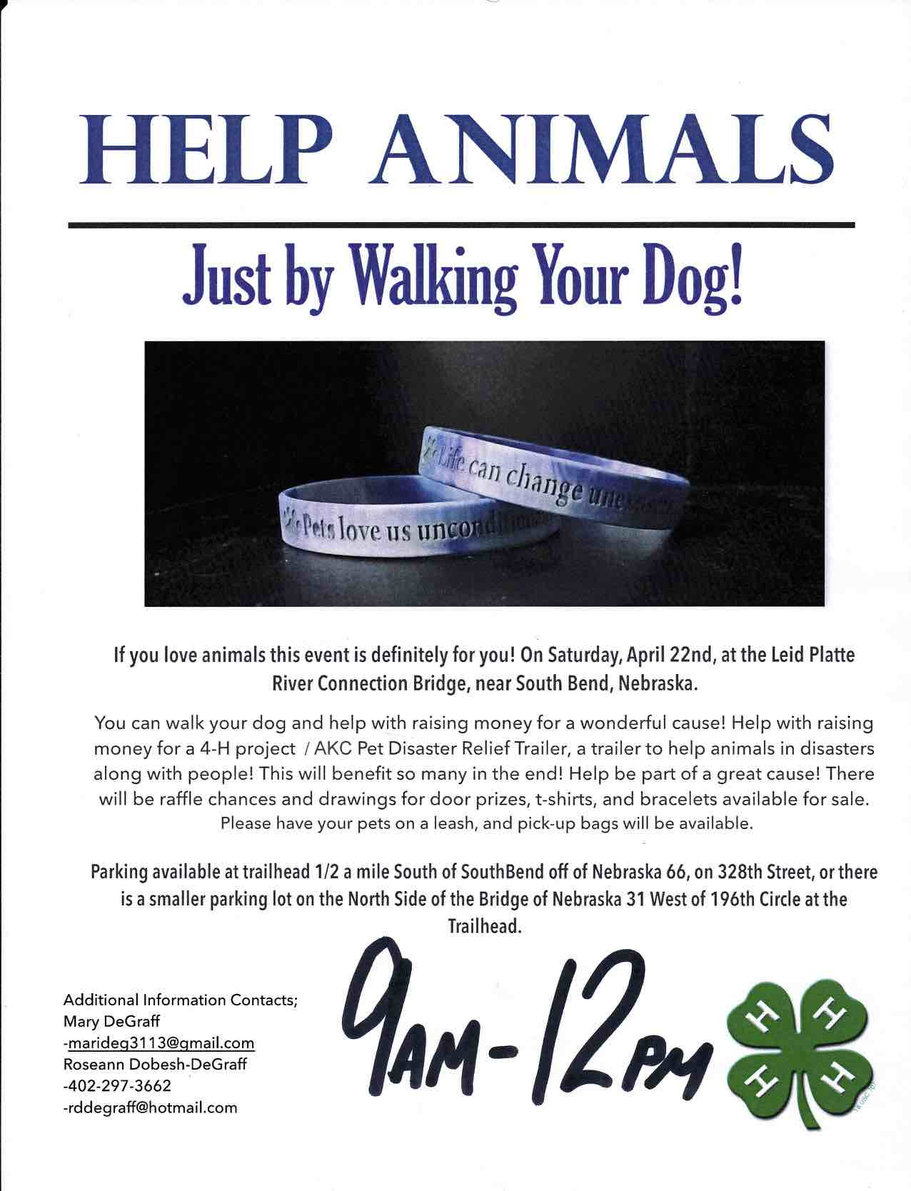 Dog Walk Fundraiser Flyer