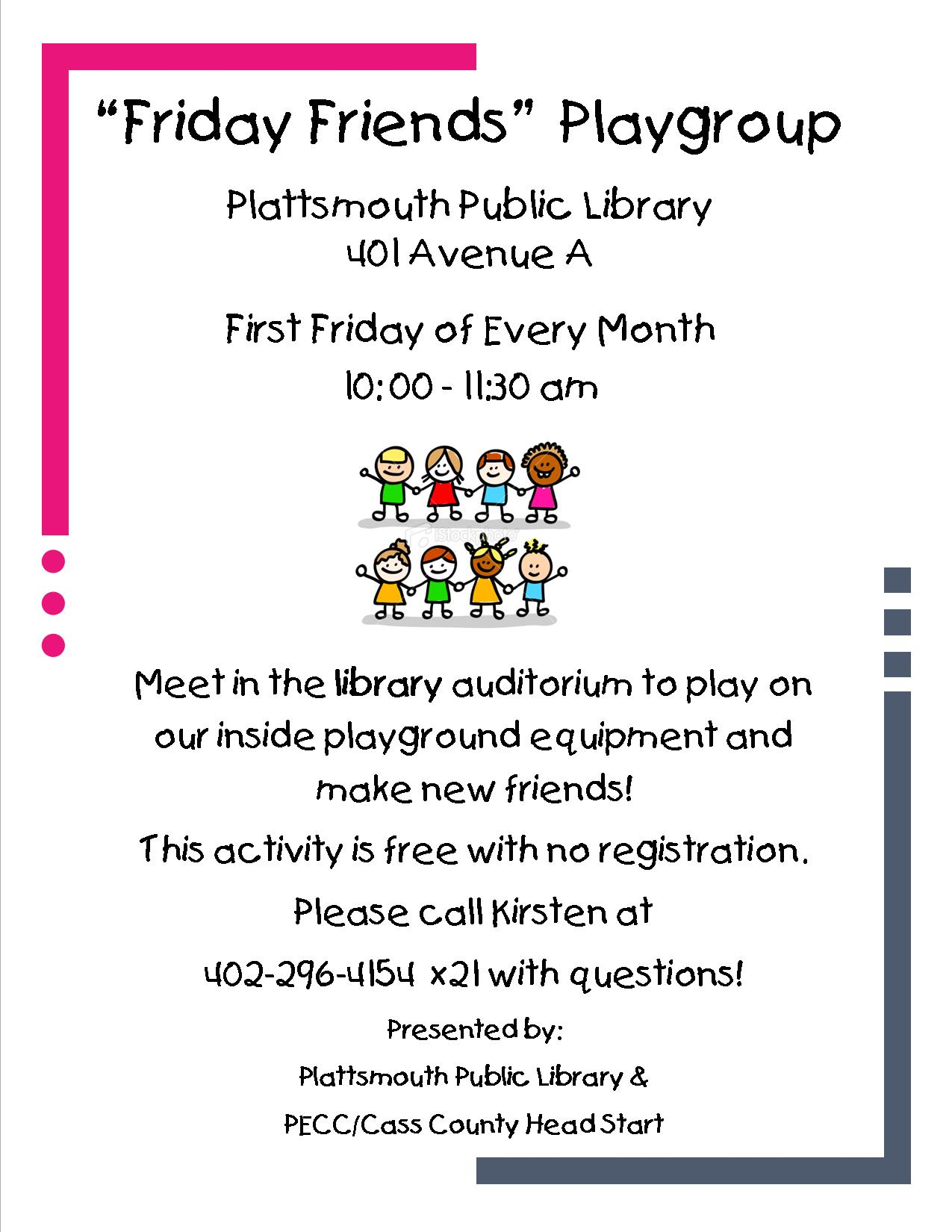 Friday Friends Playgroup Poster updated
