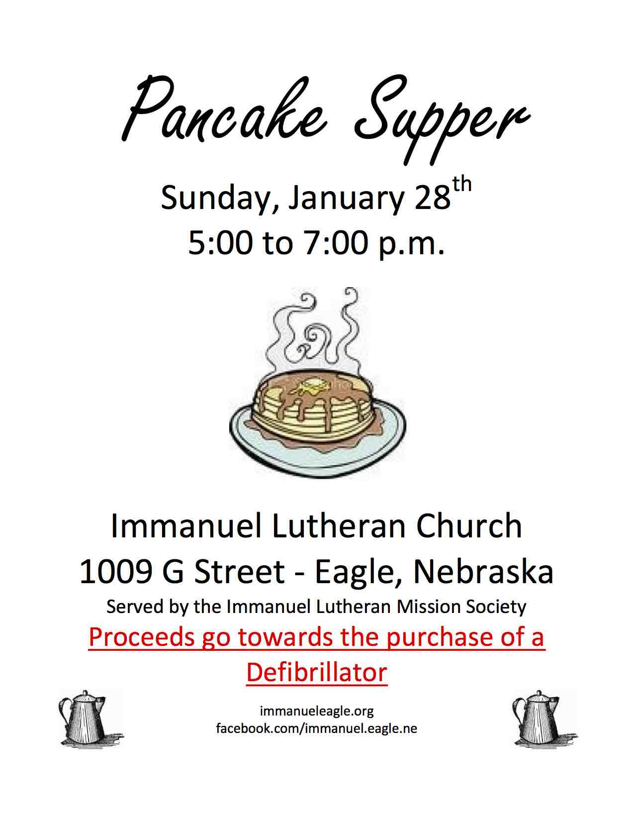 Pancake Supper flyer