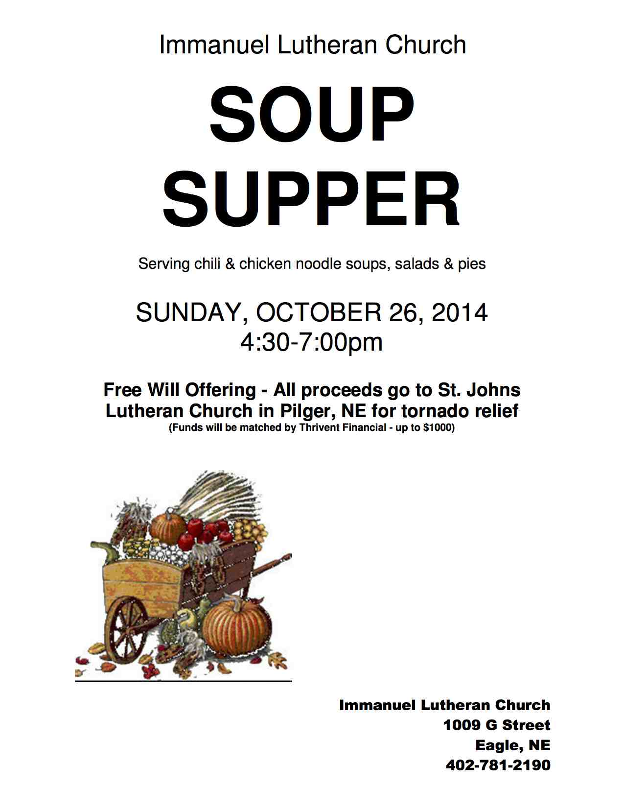 Soup Supper Flyer 2014