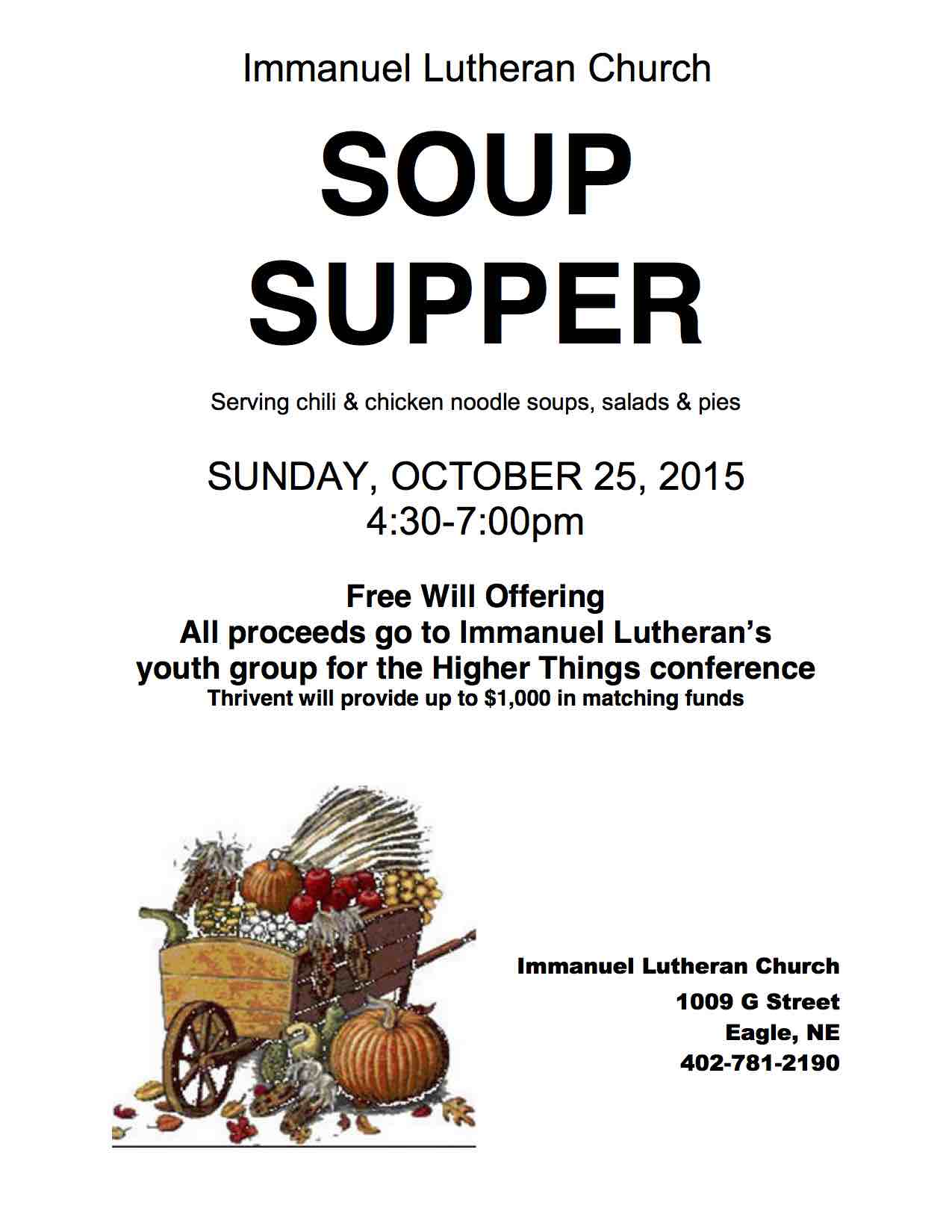 Soup Supper Flyer 2015