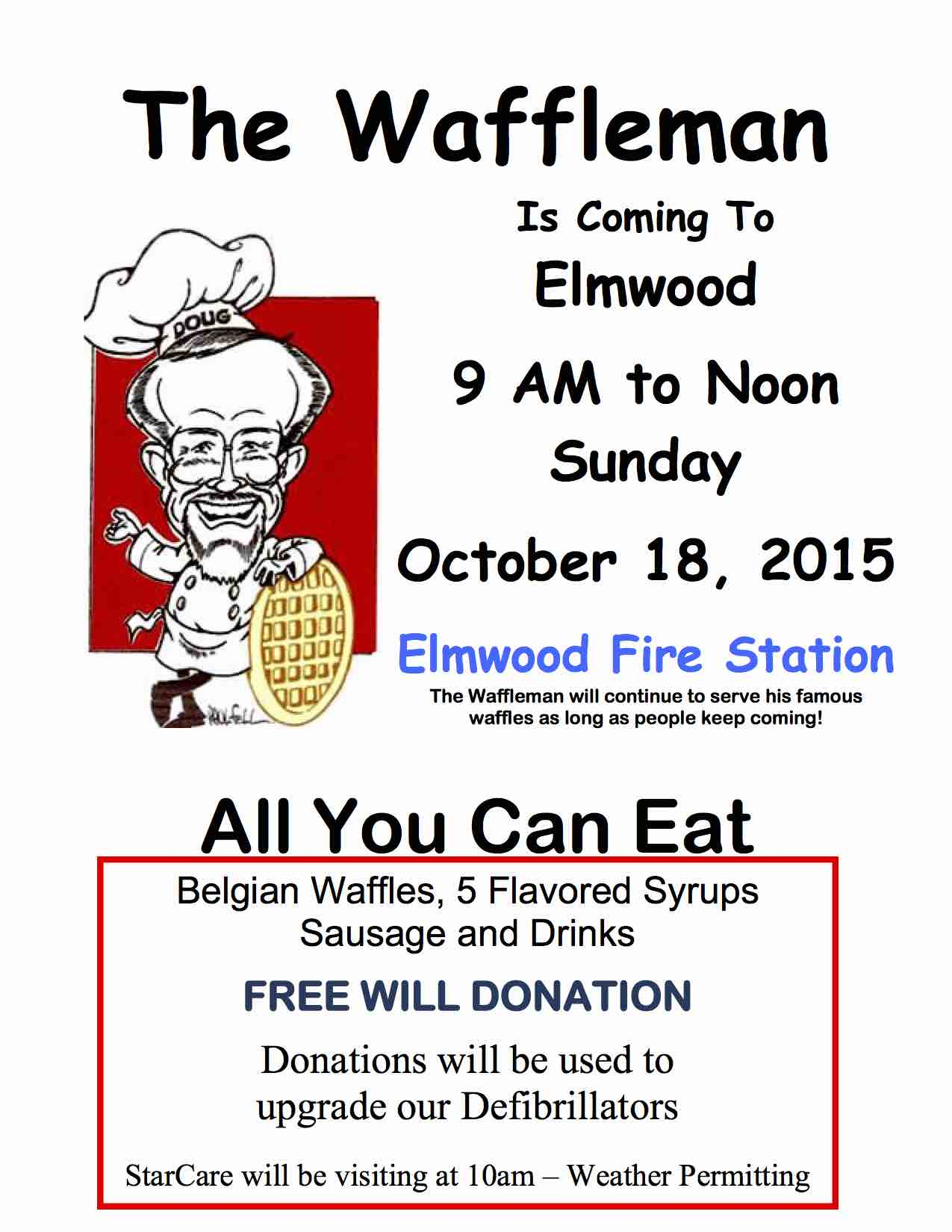 The Waffleman Flyer 2015