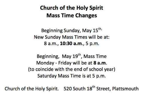 mass time changes