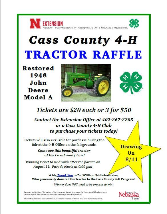 2018 tractor raffles giveaways